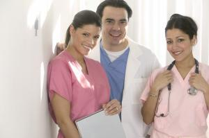 Smiling Nurses and Doctor